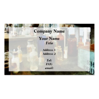 Assorted Chemicals in Bottles Business Cards