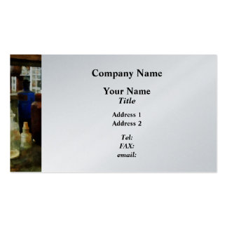 Assorted Chemicals in Bottles - Platinum Finish Business Card