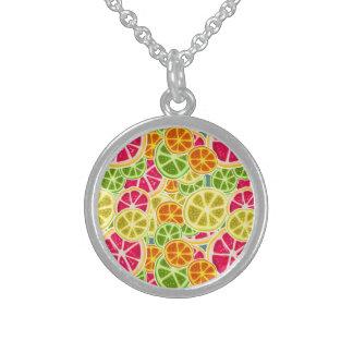 Assorted Citrus Fruit Slices Pattern Custom Necklace