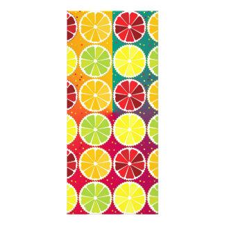Assorted citrus pattern rack card template