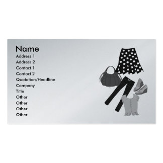 Assorted Clothing Apparel Business Card Template