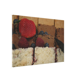 Assorted Desserts Stretched Canvas Prints