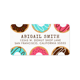 Assorted Donuts Label