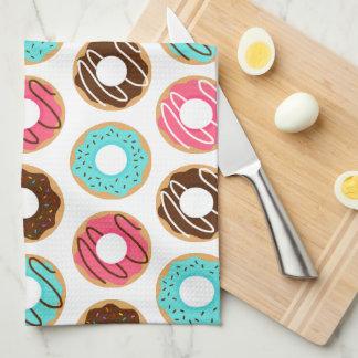 Assorted Donuts Pattern Tea Towel