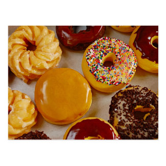 Assorted donuts postcard