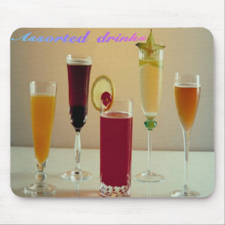 assorted-drinks, mousepad