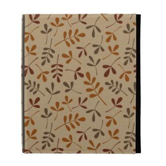 Assorted Fall Leaves Pattern iPad Folio Covers