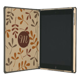Assorted Fall Leaves Ptn (Personalized) Cover For iPad Air