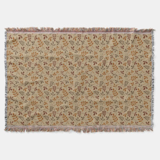 Assorted Fall Leaves Small Pattern Throw Blanket