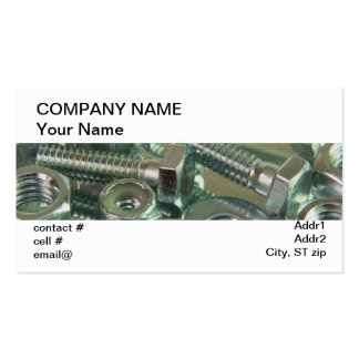 assorted fasteners business card templates