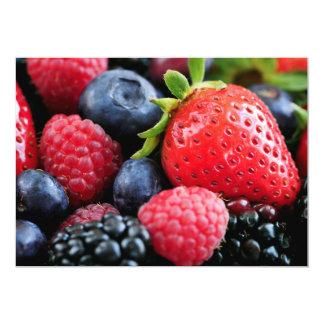 Assorted fresh berries card