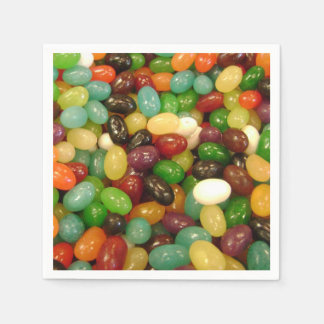 Assorted Jelly Bean Candy Paper Napkins