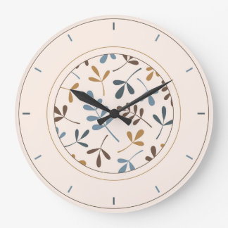 Assorted Leaves Blues Brown Gold Cream & Surround Clocks