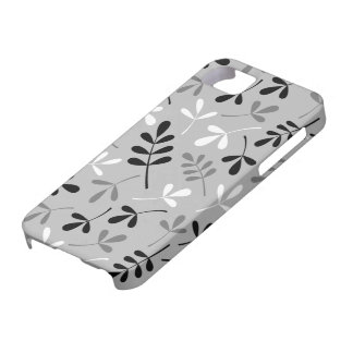 Assorted Leaves Monochrome Design Barely There iPhone 5 Case