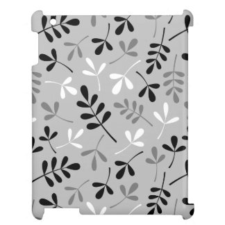 Assorted Leaves Monochrome Design Cover For The iPad