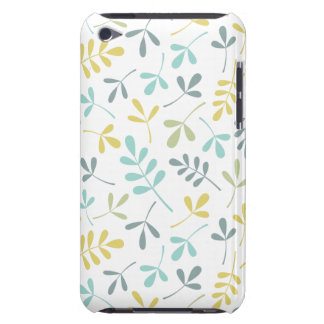 Assorted Leaves Pattern Color Mix on White Case-Mate iPod Touch Case
