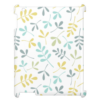 Assorted Leaves Pattern Color Mix on White Cover For The iPad 2 3 4