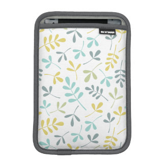 Assorted Leaves Pattern Color Mix on White iPad Mini Sleeves