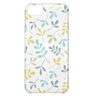 Assorted Leaves Pattern Color Mix on White iPhone 5C Case