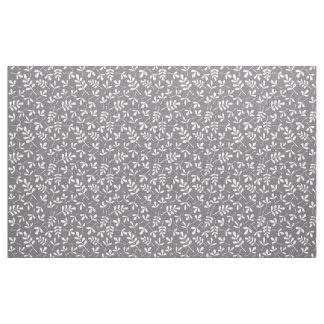 Assorted Leaves Rpt Pattern Cream on Grey Fabric