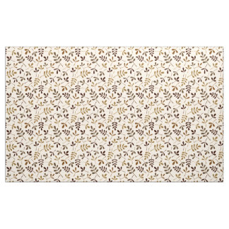 Assorted Leaves Rpt Ptn Gold Browns Cream Fabric