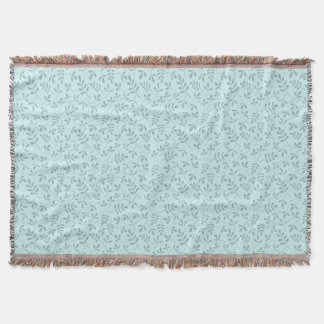 Assorted Mid on Light Teal Leaves Sml Pattern
