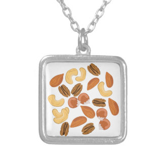 Assorted Nuts Silver Plated Necklace