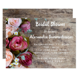 Assorted Roses Shower Invitation
