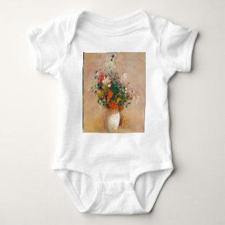 Assortion of Flowers in Vase Baby Bodysuit