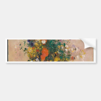 Assortion of Flowers in Vase Bumper Sticker