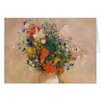 Assortion of Flowers in Vase Card