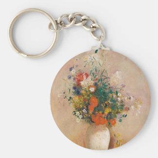 Assortion of Flowers in Vase Key Ring