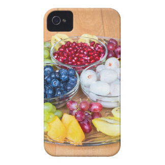 Assortment fresh summer fruit on glass scale iPhone 4 Case-Mate case