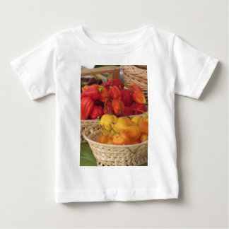 Assortment of colorful chilli peppers baby T-Shirt