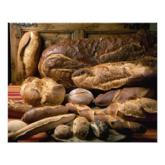 Assortment of country-style breads For use in Photo Print