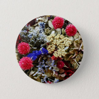 Assortment Of Dried Flowers 6 Cm Round Badge