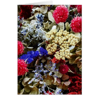 Assortment Of Dried Flowers Card