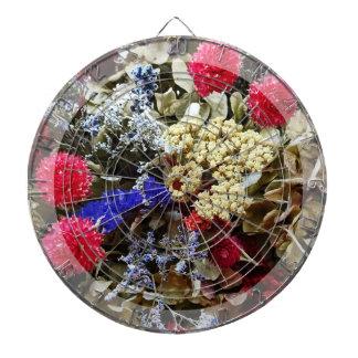 Assortment Of Dried Flowers Dartboard