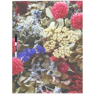 Assortment Of Dried Flowers Dry Erase Board
