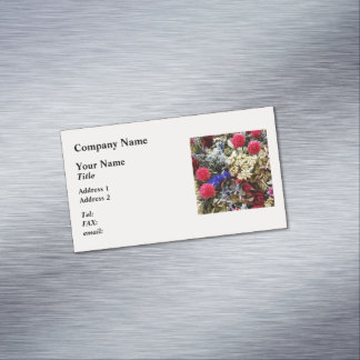 Assortment Of Dried Flowers Magnetic Business Card