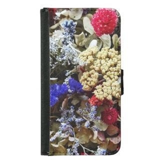 Assortment Of Dried Flowers Samsung Galaxy S5 Wallet Case