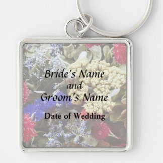 Assortment Of Dried Flowers Wedding Supplies Key Ring