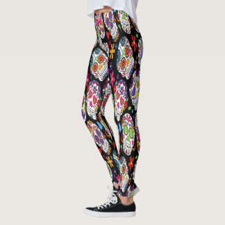 Assortment of rainbow sugar skull leggings