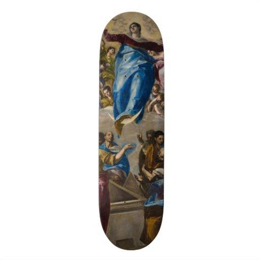 Assumption of the Virgin by El Greco Custom Skate Board