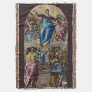 Assumption of the Virgin by El Greco Throw Blanket