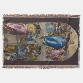 Assumption of the Virgin by El Greco Throw Blanket