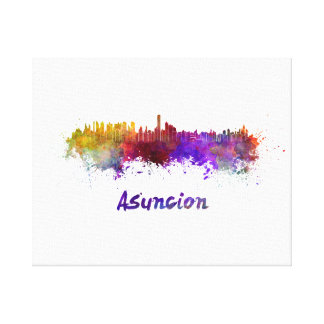 Assumption skyline in watercolor canvas print
