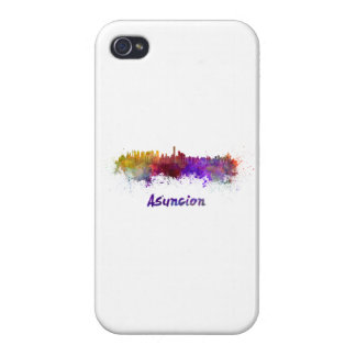 Assumption skyline in watercolor cases for iPhone 4