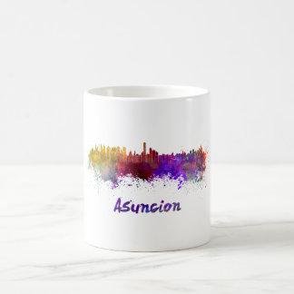 Assumption skyline in watercolor coffee mug