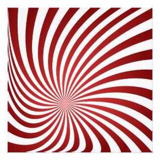 Assymetrical maroon spiral photograph